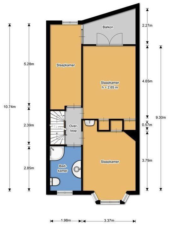 Adriaan Pauwstraat 9, Delft plattegrond-44