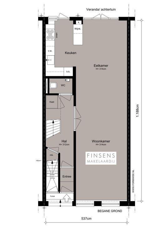 Tweede Helmersstraat 86 huis, Dubbel benedenhuis in Amsterdam Plattegronden-0