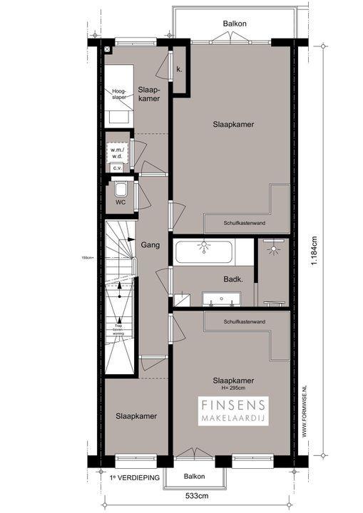 Tweede Helmersstraat 86 huis, Dubbel benedenhuis in Amsterdam Plattegronden-2