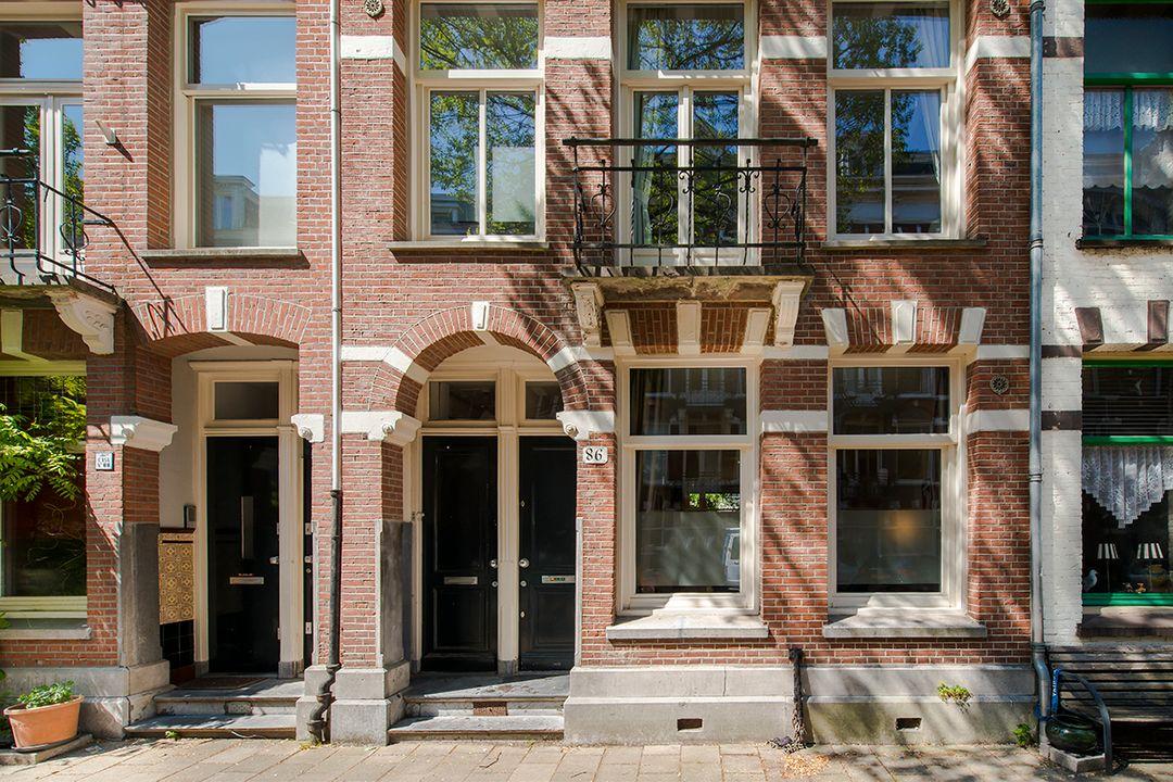 Tweede Helmersstraat 86 huis, Double downstairs house in Amsterdam foto-1