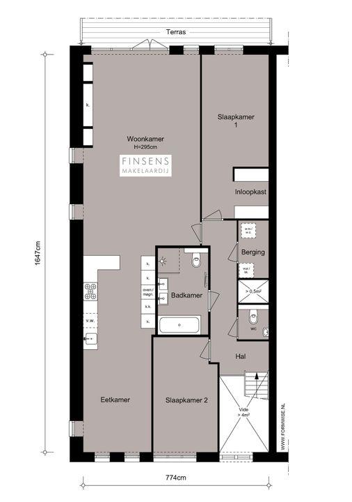 Amstelvlietstraat 163 + PP, Dubbel benedenhuis in Amsterdam Plattegronden-0