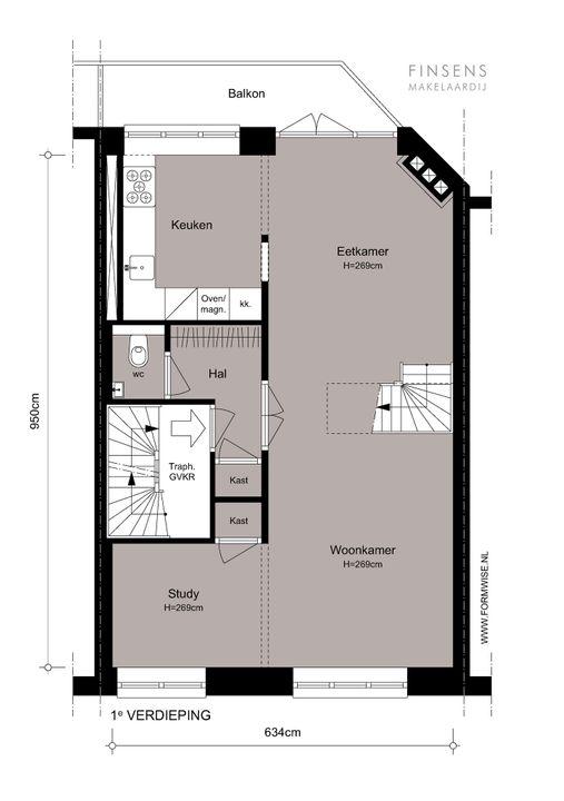 Maasstraat 4 I, Upper floor apartment in Amsterdam Plattegronden-0