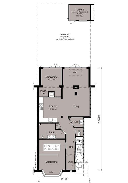 Waalstraat 133 -bg, Ground floor apartment in Amsterdam Plattegronden-0