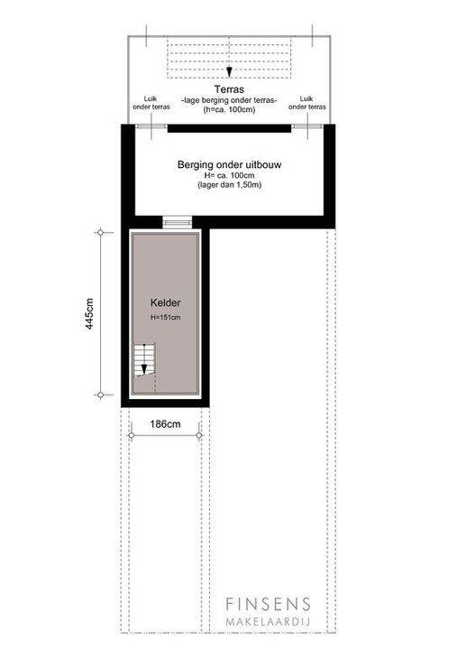 Ceintuurbaan 372 hs+I, Dubbel benedenhuis in Amsterdam Plattegronden-3