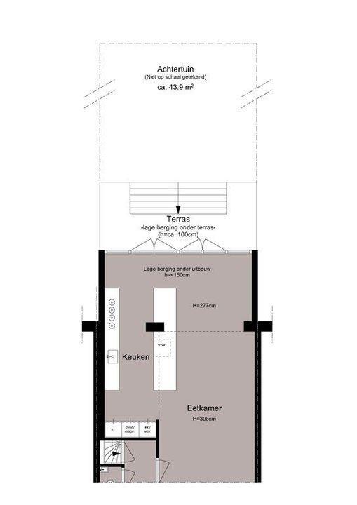 Ceintuurbaan 372 hs+I, Dubbel benedenhuis in Amsterdam Plattegronden-2