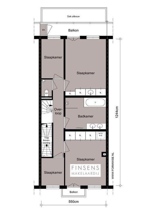 Ceintuurbaan 372 hs+I, Double downstairs house in Amsterdam Plattegronden-1
