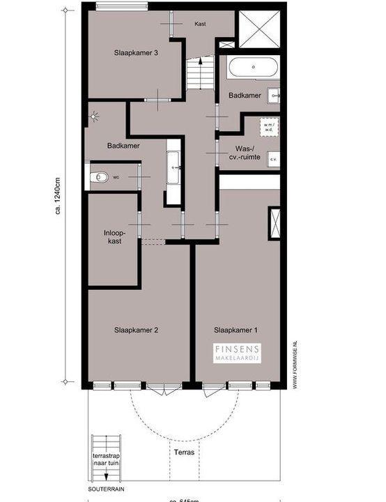Uiterwaardenstraat 215 B-huis, Double downstairs house in Amsterdam Plattegronden-0