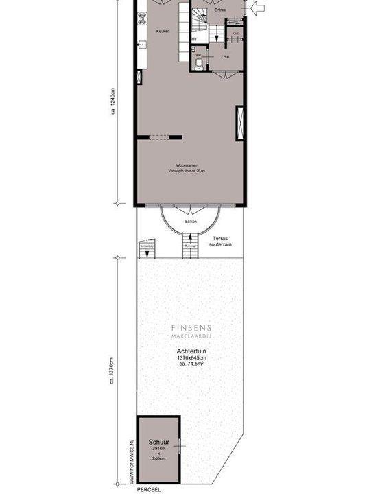 Uiterwaardenstraat 215 B-huis, Double downstairs house in Amsterdam Plattegronden-2