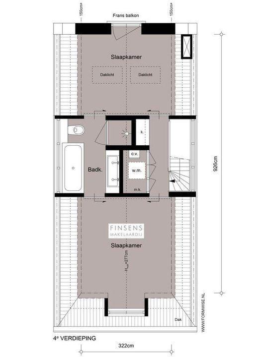 Kerkstraat 205 III+IV, Upper floor apartment in Amsterdam Plattegronden-1