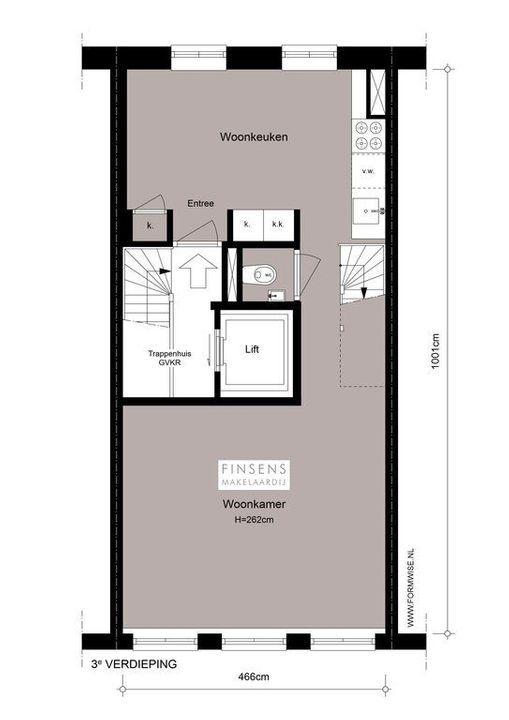 Kerkstraat 205 III+IV, Upper floor apartment in Amsterdam Plattegronden-0