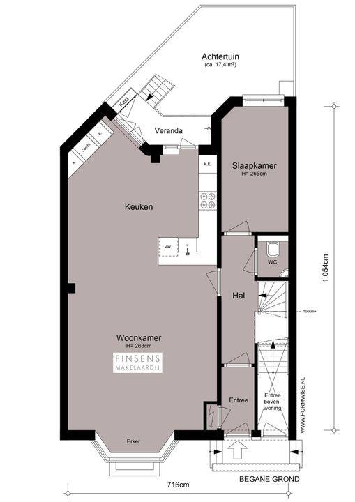 President Kennedylaan 112 huis, Dubbel benedenhuis in Amsterdam Plattegronden-0