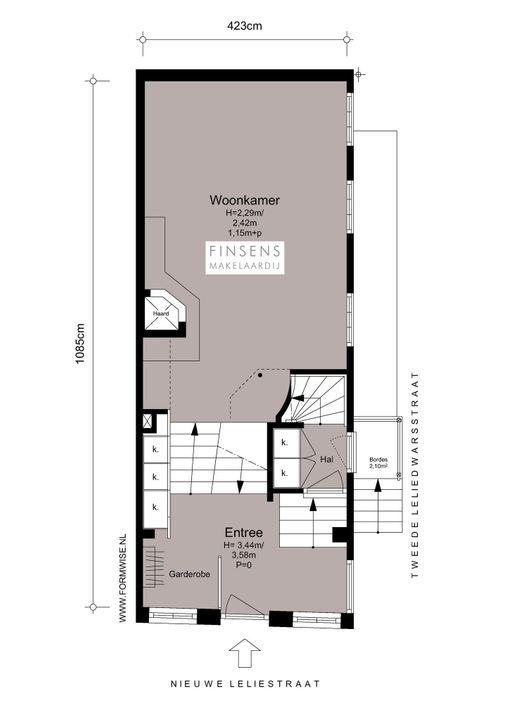 Nieuwe Leliestraat 81, Corner house in Amsterdam Plattegronden-1
