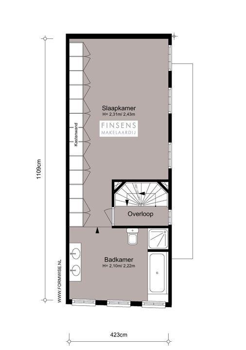 Nieuwe Leliestraat 81, Corner house in Amsterdam Plattegronden-3
