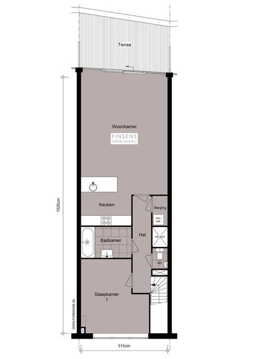 Carolina MacGillavrylaan 616, Double downstairs house in Amsterdam Plattegronden-1