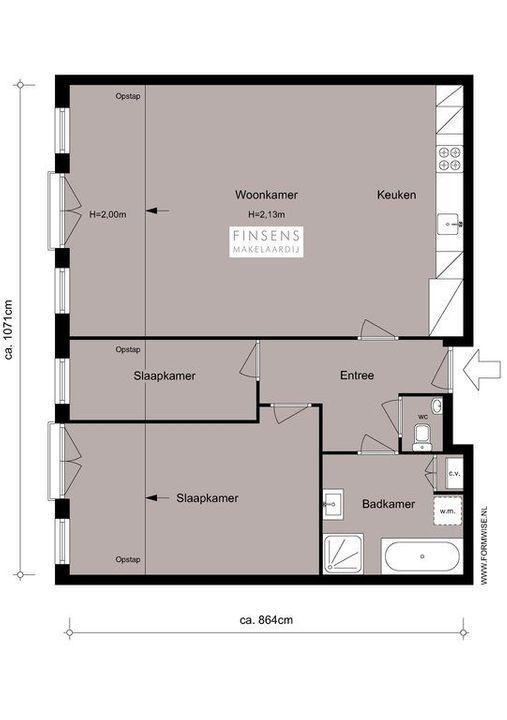 Koggestraat 5 -II, Upper floor apartment in Amsterdam Plattegronden-0