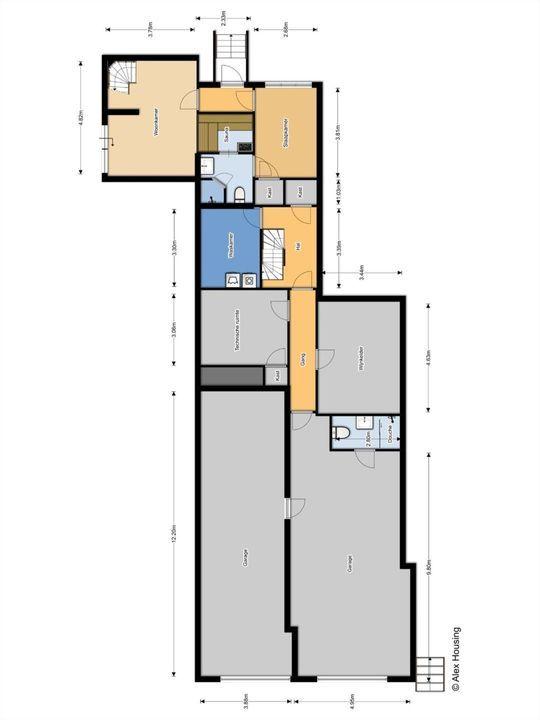 Laan van Rhemen van Rhemenshuizen 15, Wassenaar plattegrond-