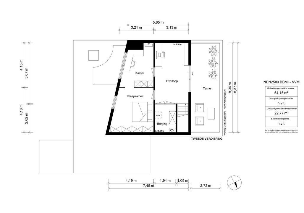 De Grote Wielen 12, Amstelveen plattegrond-