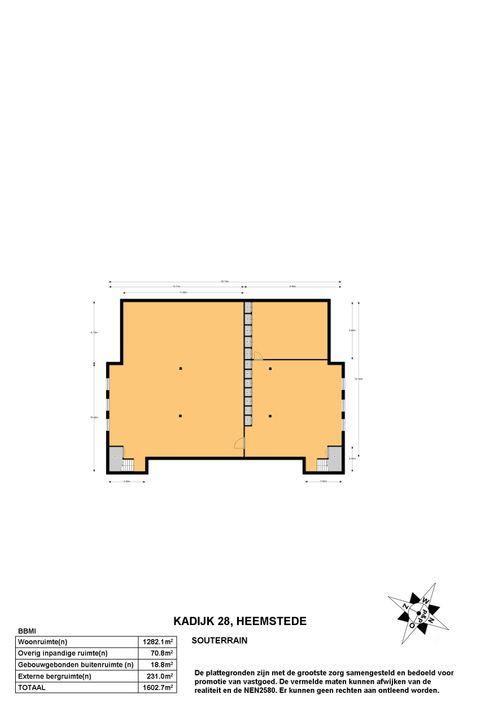 Kadijk 28, Heemstede plattegrond-