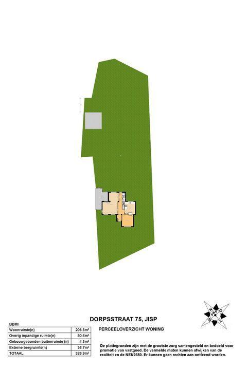 Dorpsstraat 75, Jisp plattegrond-