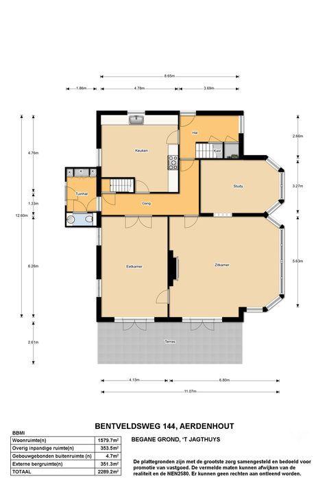 Bentveldsweg 142 140 144, Aerdenhout plattegrond-