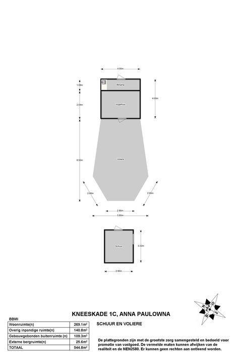 Kneeskade 1 C, Anna Paulowna plattegrond-
