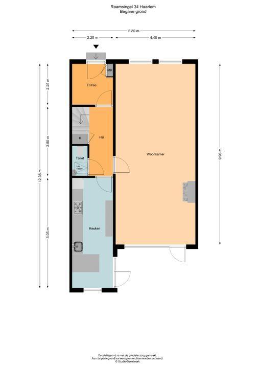 Raamsingel 34, Haarlem plattegrond-