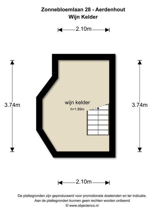 Zonnebloemlaan 28, Aerdenhout plattegrond-