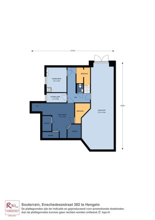 Enschedesestraat 382, Hengelo plattegrond-