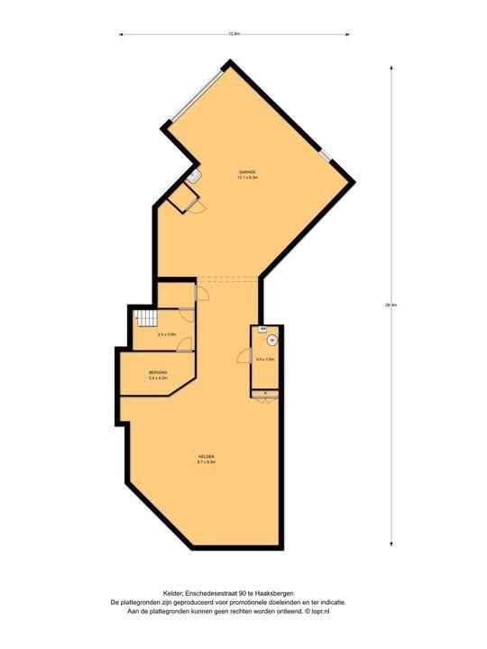 Enschedesestraat 90, Haaksbergen plattegrond-