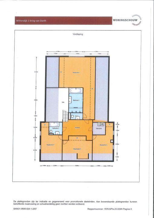 Wittendijk 1, Kring van Dorth plattegrond-