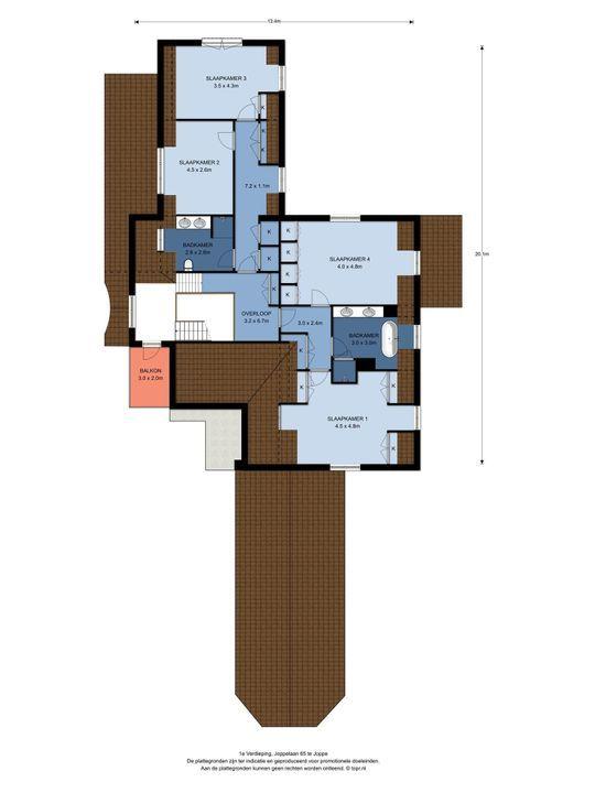 Joppelaan 65, Joppe plattegrond-