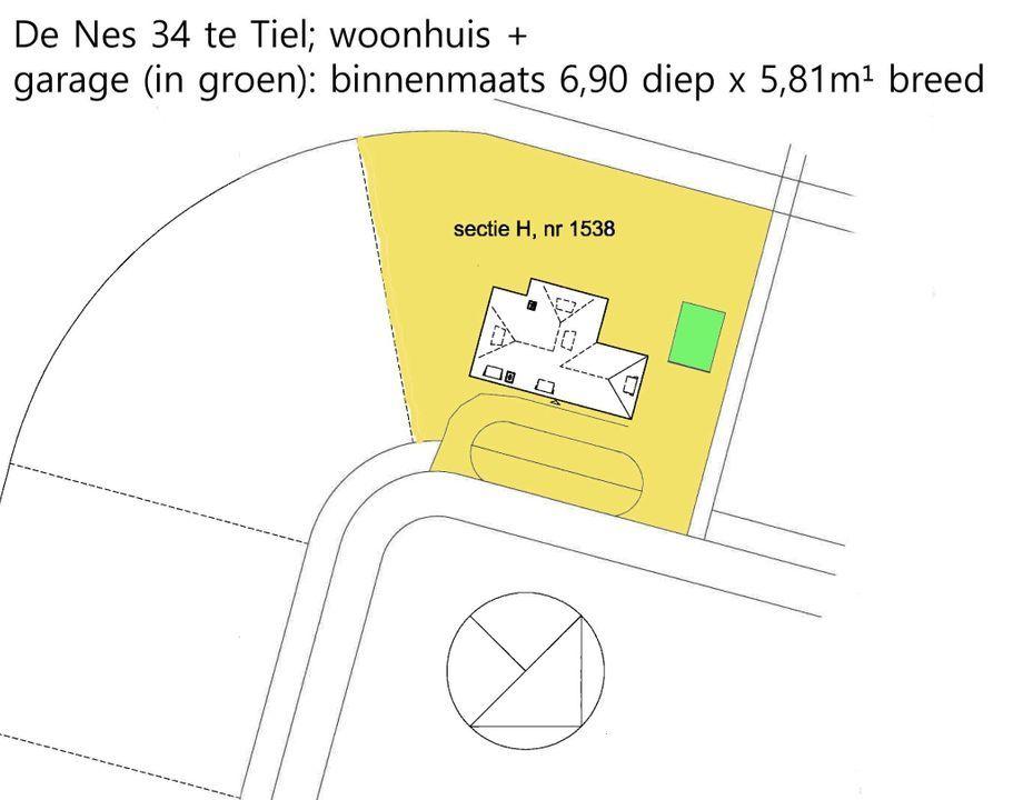 De Nes 34, Tiel plattegrond-