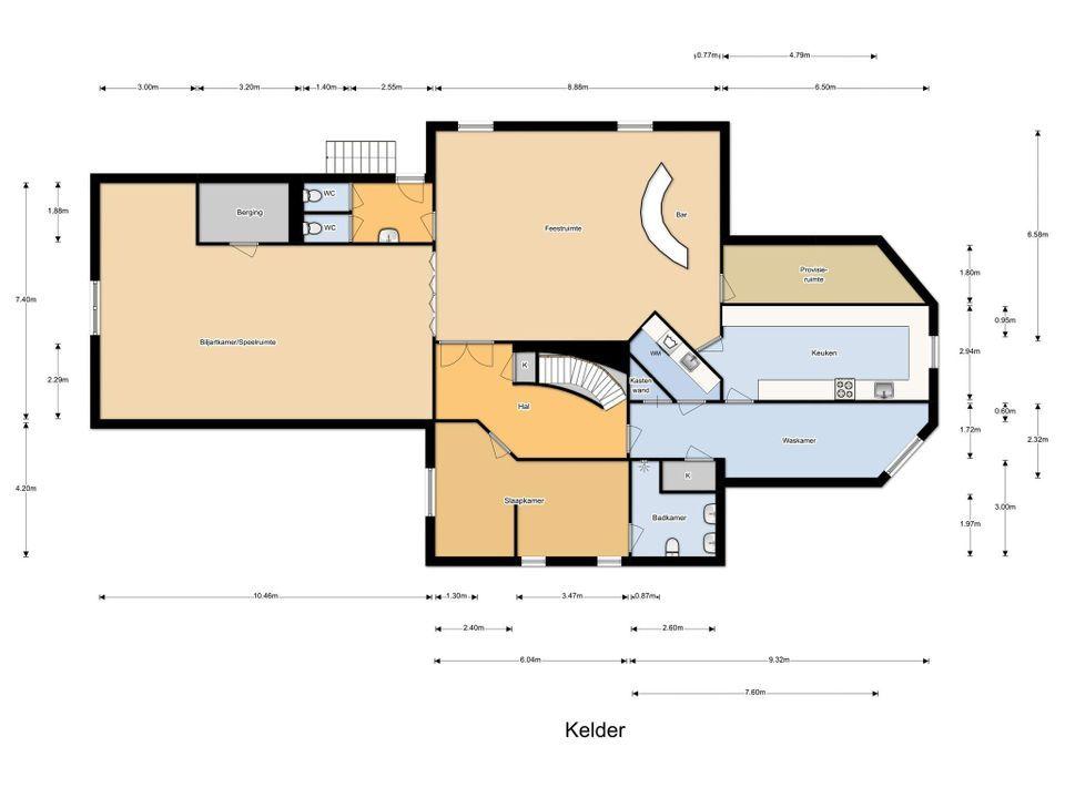 F.A. Molijnlaan 90, Nunspeet plattegrond-