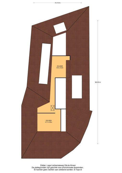 Lage Lochemseweg 33 a, Almen plattegrond-