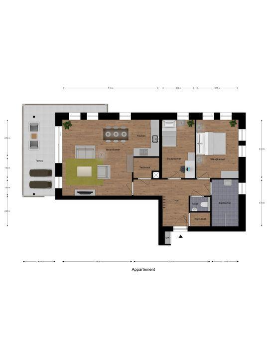 SLIK Hoek-Appartement 9 ong, Delfzijl foto-7