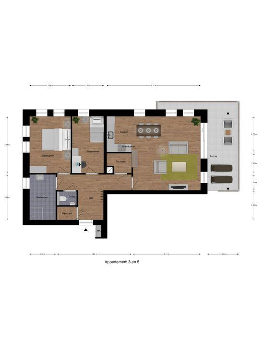 SLIK Hoek-Appartement 14 ong, Delfzijl foto-8
