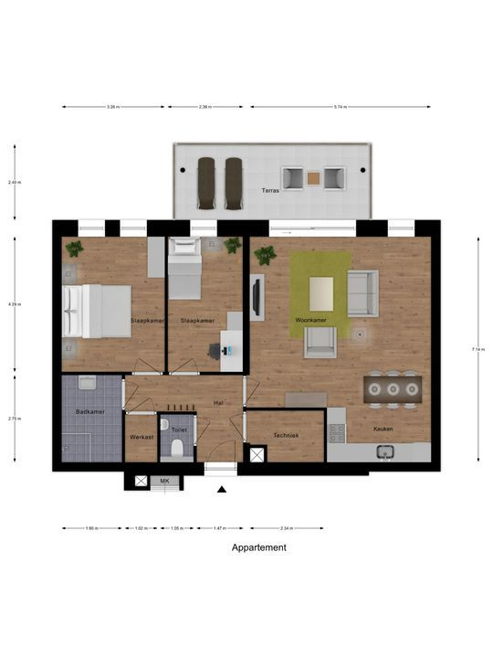 SLIK Tussen-appartement 10 ong, Delfzijl foto-7