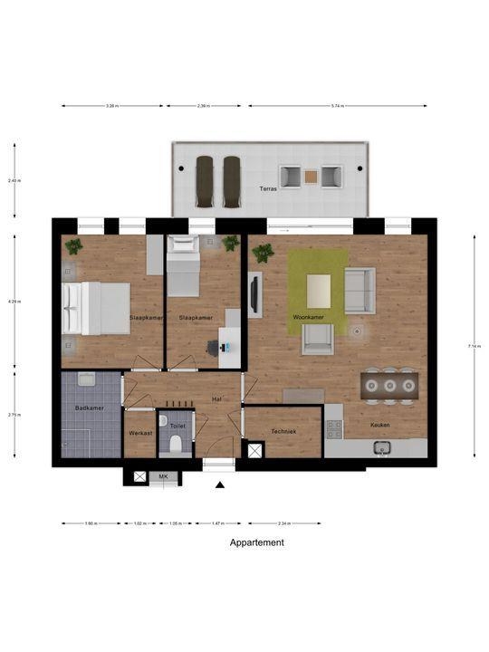 SLENK Tussen-appartement 18 ong, Delfzijl foto-7