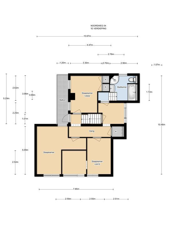 Noordweg 54, Den Haag floorplan-1