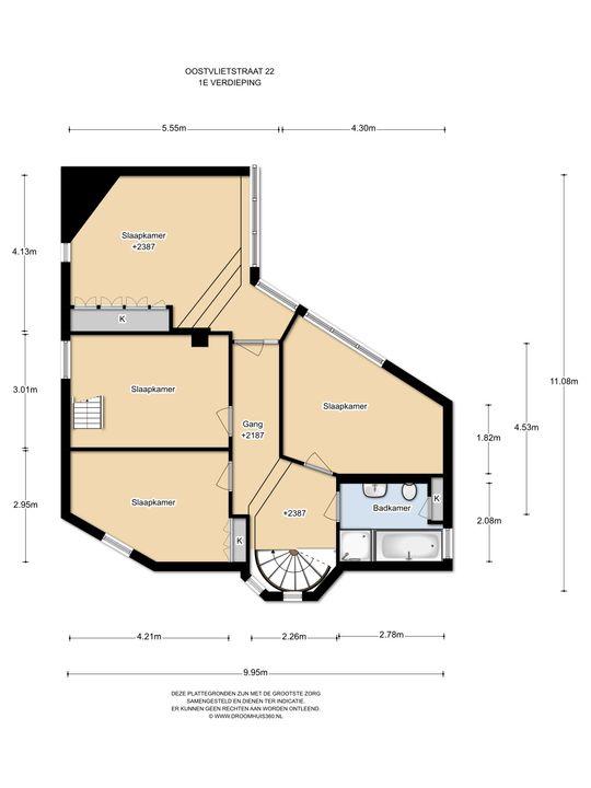 Oostvlietstraat 22, Voorburg floorplan-1