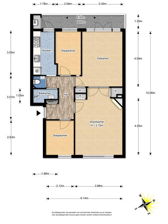 Prins Bernhardlaan 121, Voorburg floorplan-0