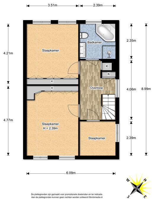 Mauvelaan 39, Leidschendam floorplan-1