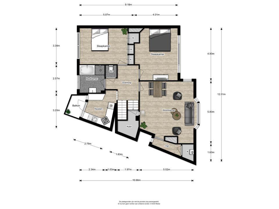 Rembrandtlaan 56, Voorburg floorplan-0