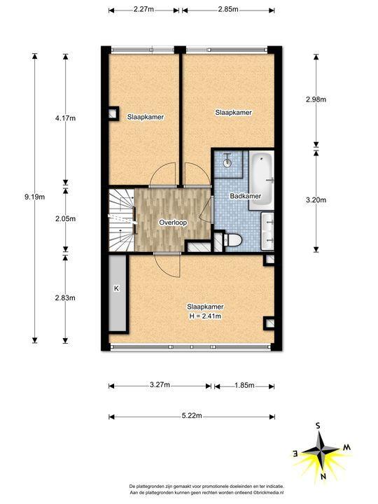 de Oude Bleijk 221, Leidschendam floorplan-1