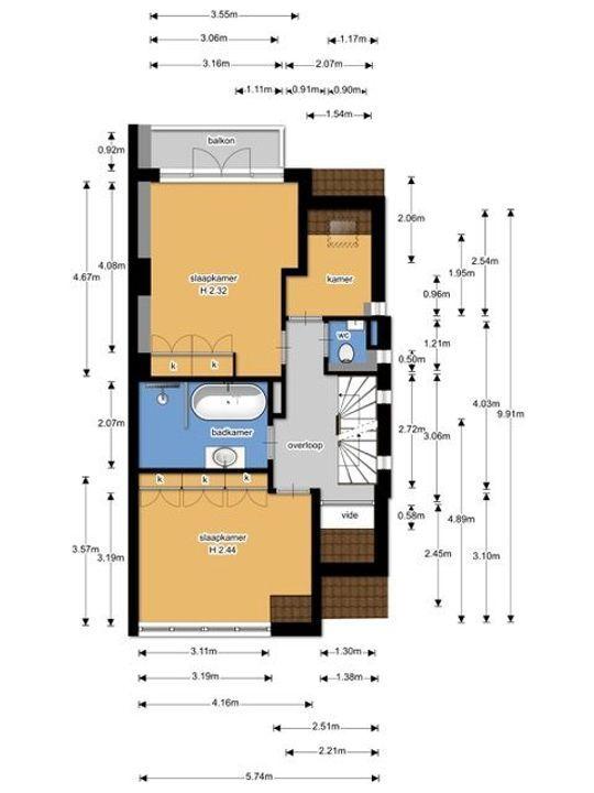 Laan van Nieuw Oosteinde 374, Voorburg floorplan-2