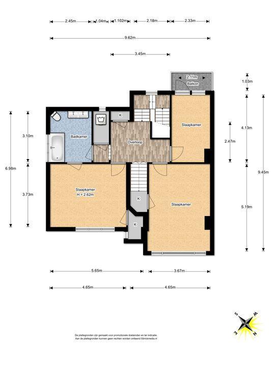 Den Burghstraat 12, Voorburg floorplan-1