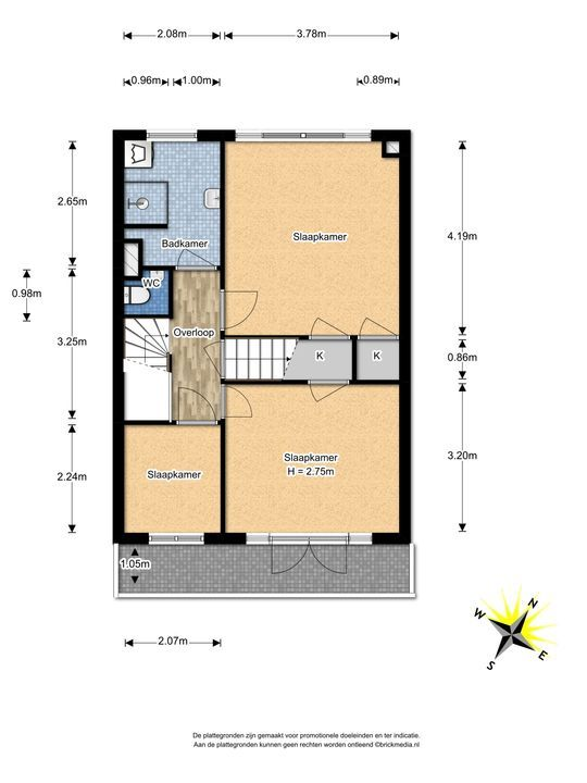 Waalhofflaan 3, Voorburg floorplan-1