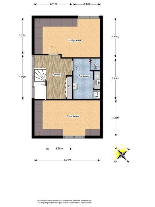 Watermolensingel 18, Leidschendam floorplan-2
