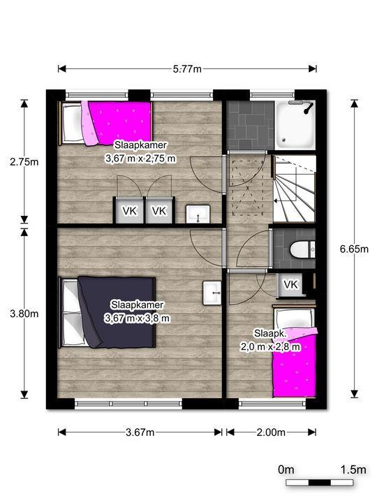 Nicolaas Beetslaan 26, Voorburg floorplan-1