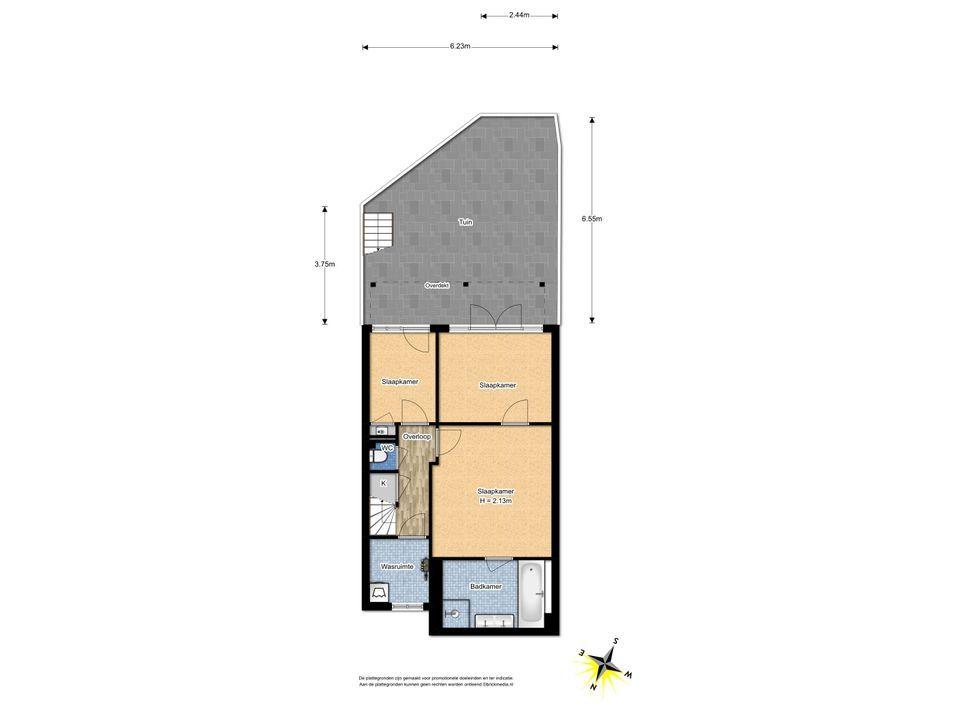 Dirk Hoogenraadstraat 121, Den Haag floorplan-2